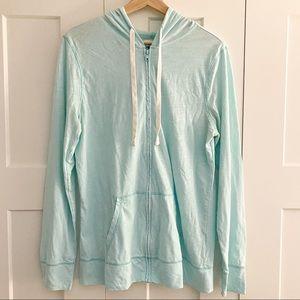 Old Navy Full Zip Lightweight Hoodie Sweatshirt aqua blue size large